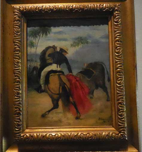 "Oller, ""Lady Bullfighter on a Horse,"" c. 1851-2 Photo by Lee Rosenbaum"