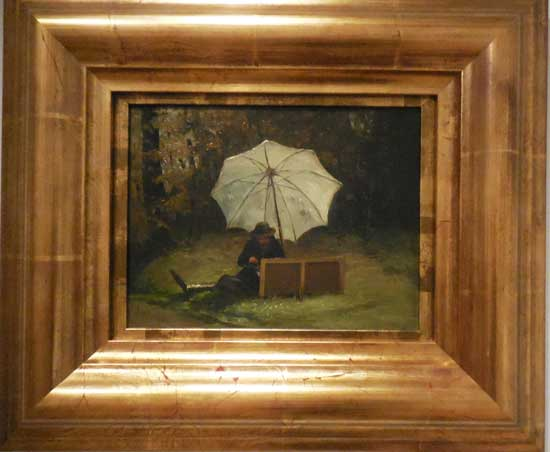 """Oller, """"Paul Cézanne Painting Outdoors,"""" c. 1864, Collection of Luis R. de Corral and Lorraine Vázquez de Corral Photo by Lee Rosenbaum"""