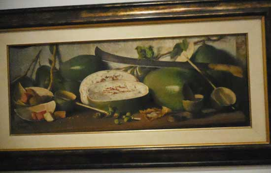 """Oller, """"Gourds and Machete,"""" c. 1912-14. Collection of José Enrique and Mary Jane Fernández Photo by Lee Rosenbaum"""