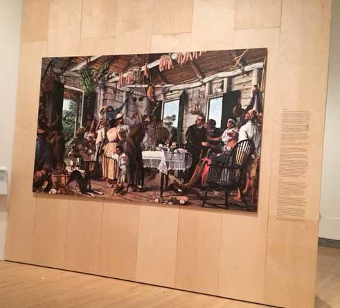 "Reproduction of Oller's ""The Wake,"" c.1893, Museo de Historia, Antropologia y Arte, University of Puerto Rico, Rio Piedras Photo by Lee Rosenbaum"
