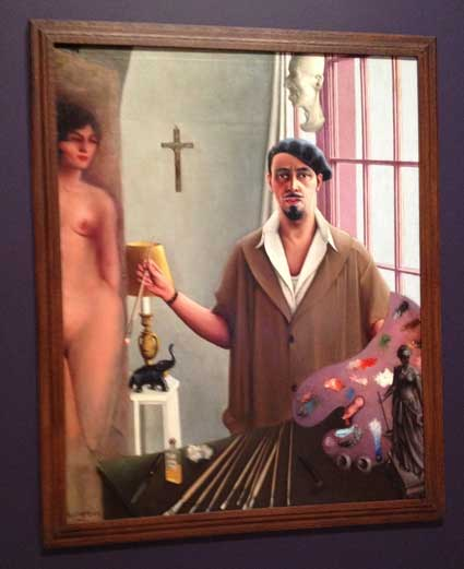 "Archibald Motley, ""Self Portrait (Myself at Work), 1933, Collection of Mara Motley and Valerie Gerrard Browne Photo by Lee Rosenbaum"