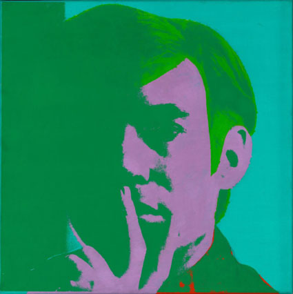 "Warhol, ""Self-Portrait, 1966, Art Institute of Chicago Gift of Edlis