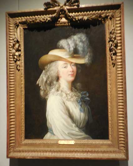 """The Comtesse Du Barry in a Straw Hat,"" c. 1781, private collection Photo by Lee Rosenbaum"