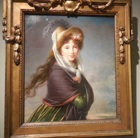 """Portrait of a Young Woman,"" c. 1797, Boston Museum of Fine Arts Photo by Lee Rosenbaum"