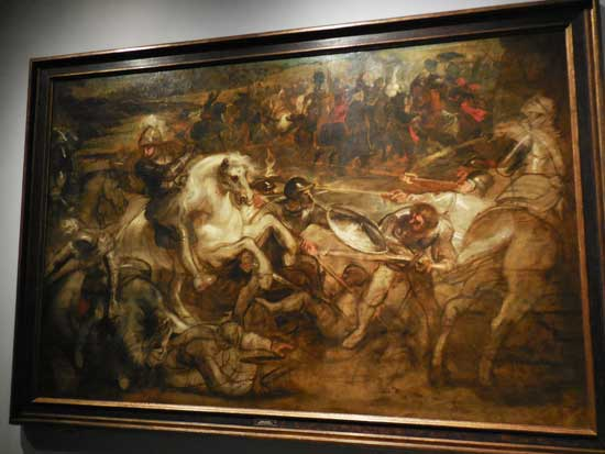 "Rubens, ""Henry IV at the Battle of Ivry,"" c. 1628–30, Rubenshuis, Antwerp"