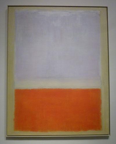 "Rothko, ""Lilac and Orange over Ivory,"" 1953, Gift of William S. Rubin Photo by Lee Rosenbaum"