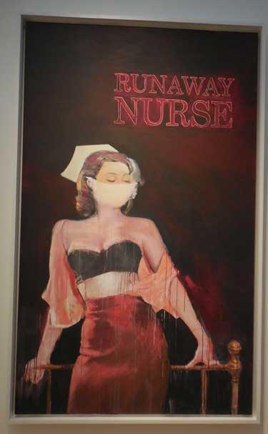 "Richard Prince, ""Runaway Nurse,"" 2007 Sold for $9.69 million ($8.5 million hammer); presale est.: $7-10 million Photo by Lee Rosenbaum"