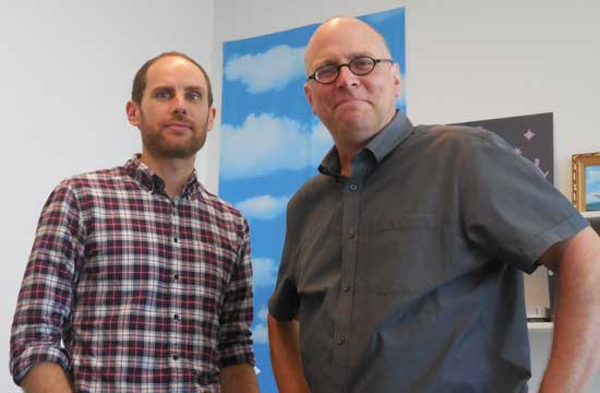L to R: Keir Winesmith, head of web and digital platforms; Chad Coerver, SFMOMA's chief content officer Photo by Lee Rosenbaum