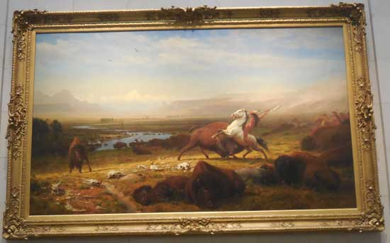 "Albert Bierstadt, ""The Last of the Buffalo,"" 1888, ex-Corcoran"
