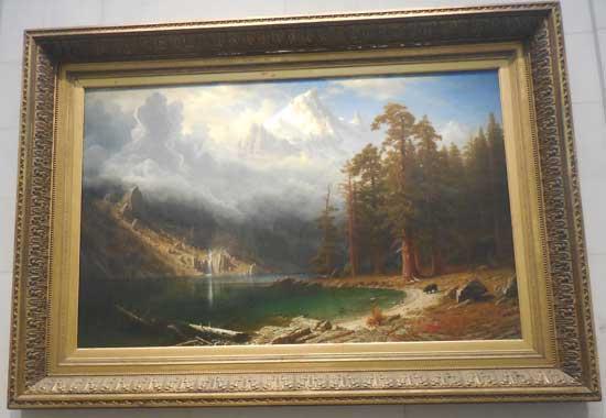 """Albert Bierstadt, """"Mount Corcoran,"""" c. 1876-77, ex-Corcoran"""