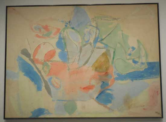 "Helen Frankenthaler, ""Mountains and Sea,"" 1952, CKCKCK"