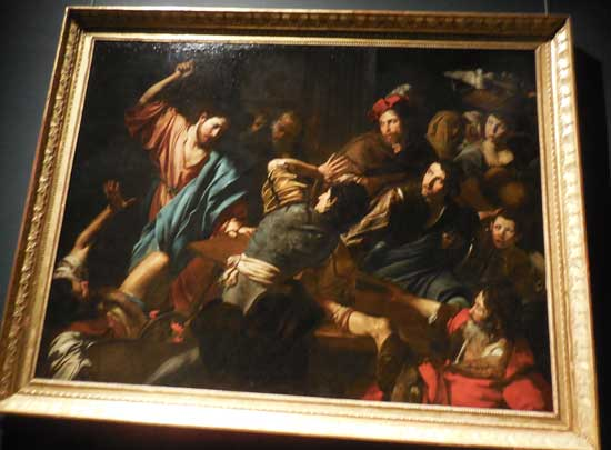 """Christ Driving the Merchants from the Temple,"" ca. 1618-22, Palazzo Barberini, Rome"