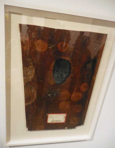 """The Face of Nat Turner Appeared in a Water Stain (Image Enhanced), 1990, Collection of Elliot and Kimberly Perry"