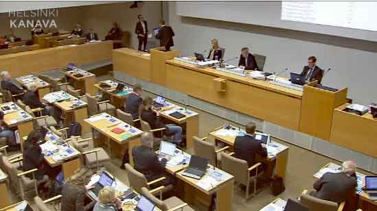 Screenshot of live feed from today's Helsinki Council debate on the proposed Guggenheim