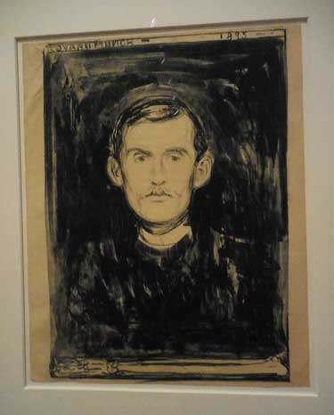 "Munch, ""Self-Portrait."" lithograph, 1895 Photo by Lee Rosenbaum"