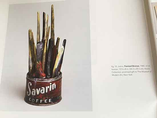 "Image of Johns, ""Painted Bronze,"" TK, from catalogue for the VMFA's show"