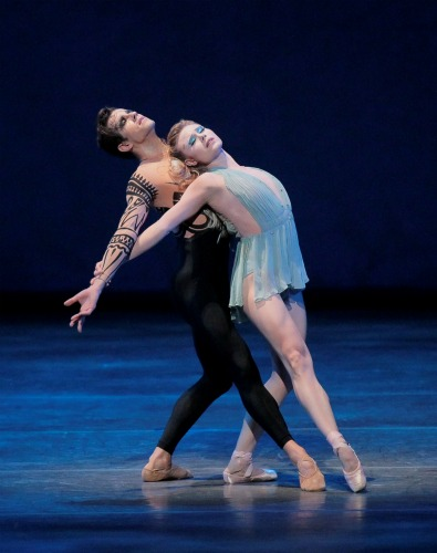 Princess Honorata (Sara Mearns) and Prince Stone (Robert Fairchild) Photo: Paul Kolnik