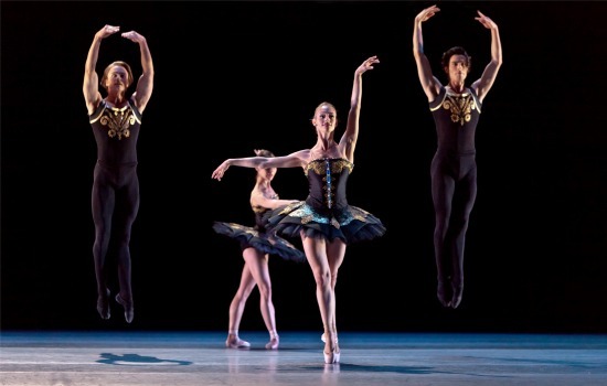 Houston Ballet (Melissa Hough, front) in Jorma Elo's One/end/One. Photo: Amitava Sarkar