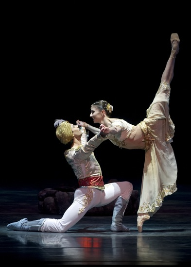 Herman Cornejo and Alina Cojocaru in Act I of ABT's La Bayadere. Photo: Gene Schiavone