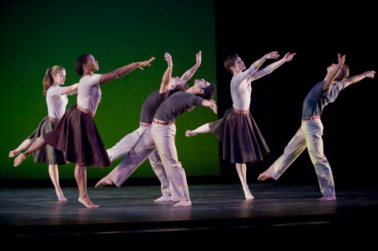 The Mark Morris Dance Group in Festival Dance. Photo: Stephanie Berger