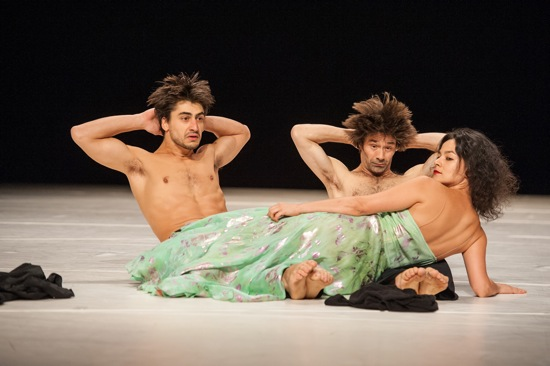 Damiano Ottavio Bigi (L) and Rainer Behr anchored by Morena Nascimento. Photo: Stephanie Berger