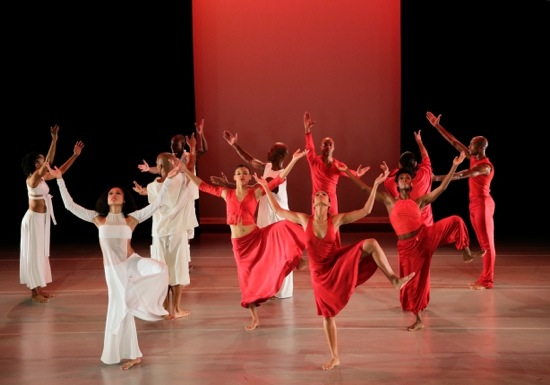 Ailey dancers in Ronald K. Brown's Grace, Linda Celeste Sims left front. Photo: Paul Kolnik