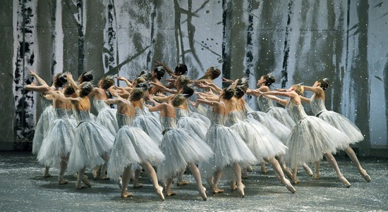 Beware children! Ratmansky's Snowflakes create a blizzard. Photo: Gene Schiavone