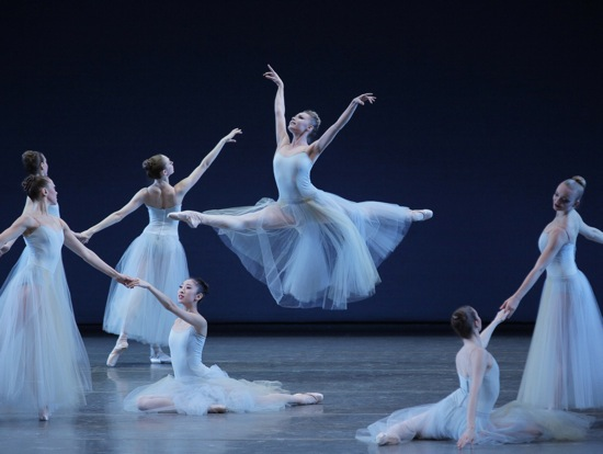 Sara Mearns flies through Balanchine's Serenade. Photo: Paul Kolnik