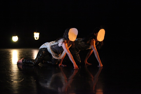 Emily Johnson (L) and Aretha Aoki in Johnson's Niicugni. Photo: © Chris Cameron