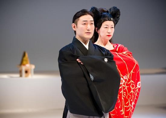 Two Hanakos: Kuniya Sawamura and Yoshiko Yokoshi in a rehearsal. Photo: Ian Douglas