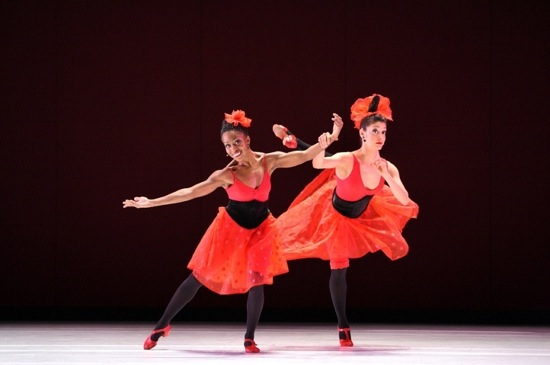 Michelle Fleet (L) and Parisa Khobdeh in Taylor's Offenbach Overtures. Photo: Paul B. Goode