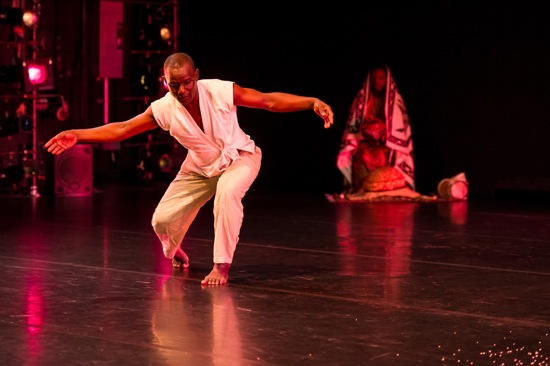 Badolo: one stage in his journey, Mamadou Konate at back. Photo: Ian Douglas