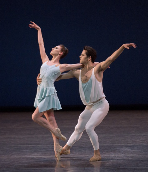 Tiler Peck and Robert Fairchild in A Place for Us. Photo: Paul Kolnik