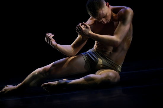 Nicholas Sciscione reborn in the final moments of Like Lazarus Did (LLD 4/30. Photo Julieta Cervantes