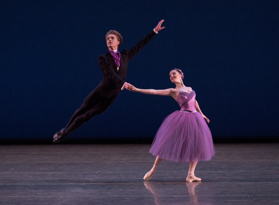 Indiana Woodward and Harrison Ball in Wheeldon's Soirée Musicale. Photo: Paul Kolnik