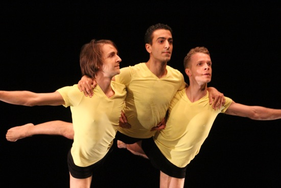 L to R: Timothy Ward, John Eirich, and Ned Sturgis in Dusan Tynek's Apian Way. Photo: Phyllis McCabe