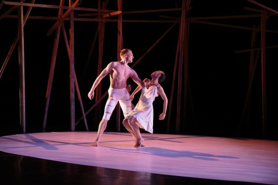 Jere Hunt and Jane Sato as Achilles and Iphigenia in Pascal Rioult's Iphigenia. Photo: Sophia Negron