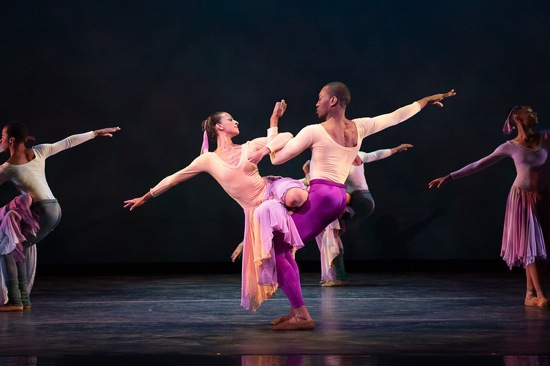 Gabrielle Salvatto and Fredrick Davis of DTH in Alivin Ailey's The Lark Ascending. Photo: Christopher Duggan