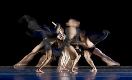 Pénelope González surrounded in Pascal Rioult's Prelude to Night. Photo: Basil Childers