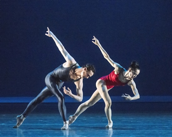 Cory Stearns and Diana Vishneva in Piano Concerto #1. Photo: Gene Schiavone