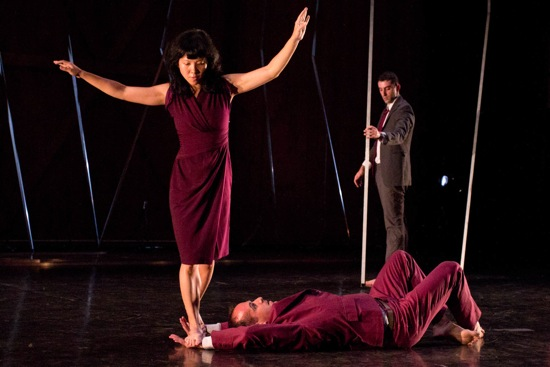 Jo-anne Lee and Brian Brooks in Big City. Photo: Christopher Duggan