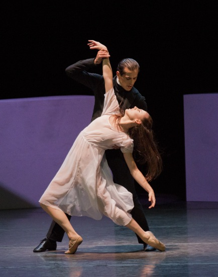 Tiler Peck and Robert Fairchild in Angelin Preljocaj's Spectral Evidence. Photo: Paul Kolnik
