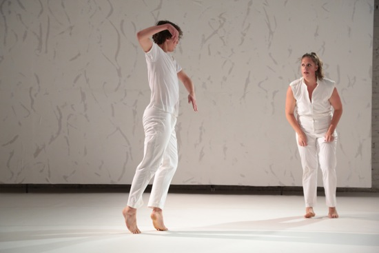 Michael Ingle and Anna Adams Stark in Flutter. Photo: Madeline Best