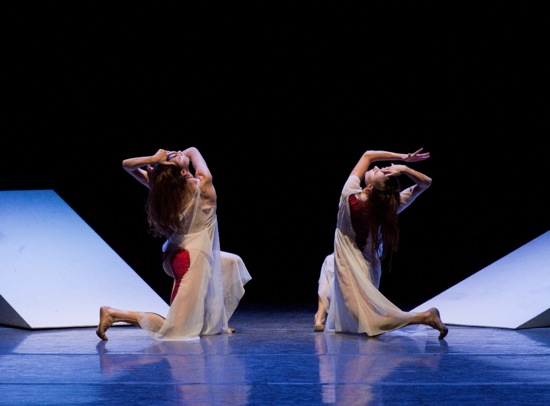 (L to R): Gretchen Smith and Tiler Peck in Spectral Evidence. Photo: Paul Kolnik