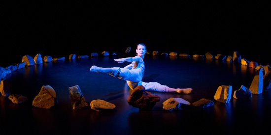 Molissa Fenley in The Floor Dances. Photo: Ian Gibson