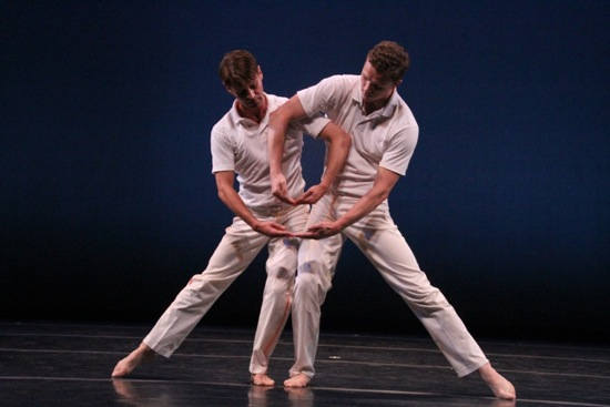 Attila Joey Csiki (L) and Tobin Del Cuore in Lar Lubovitch's Concerto Six Twenty-Two. Photo: Phyllis McCabe