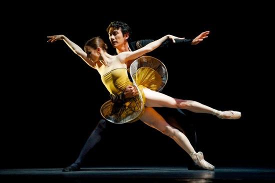 Maria Kochetkova and Hansuke Yamamoto in Yuri Possokhov's Classical Symphony. Photo: Erik Tomasson