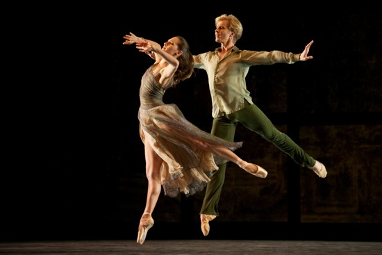 Sarah Van Patten and Tiit Helimets in Helgi Tomasson's Trio. Photo: Erik Tomasson