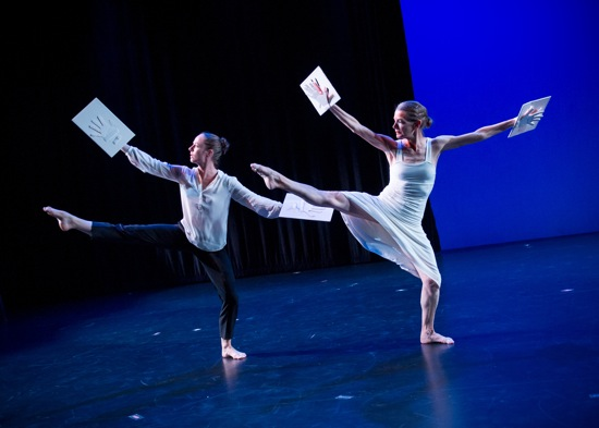 "(L to R): Christiana Axelsen and Molissa Fenley in Found Object's ""Dance for Jene."" Photo: Ian Gibson"