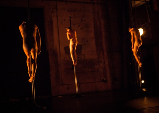 Suspended (L to R): Pavel Zuštiak, Matthew Rogers, Jaro Viňarský. Photo: Yi-Chun Wu
